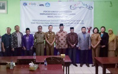 UBL, PPTIK ITB dan Dinas Pendidikan dan Kebudayaan Lampung Implementasikan dan Sosialisasi Sistem Pembelajaran Interaktif Tari Sigeh Penguten