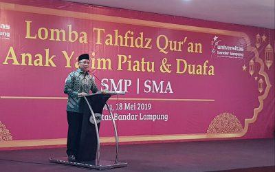 Tingkatkat Syiar Al Qur'an, UBL Gelar Lomba Tahfidz Qur'an Bagi Anak Yatim Piatu dan Duafa