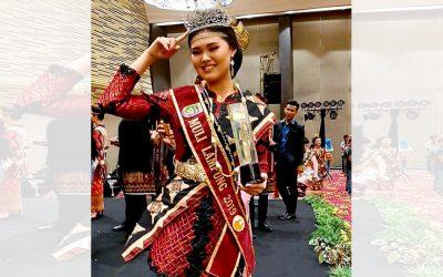 Irene Theodora, Mahasiswi UBL Sabet Juara I Muli Lampung 2019