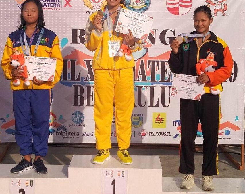 Mahasiswi UBL Sabet 2 Medali Emas Untuk Lampung  di Ajang Porwil X Sumatera
