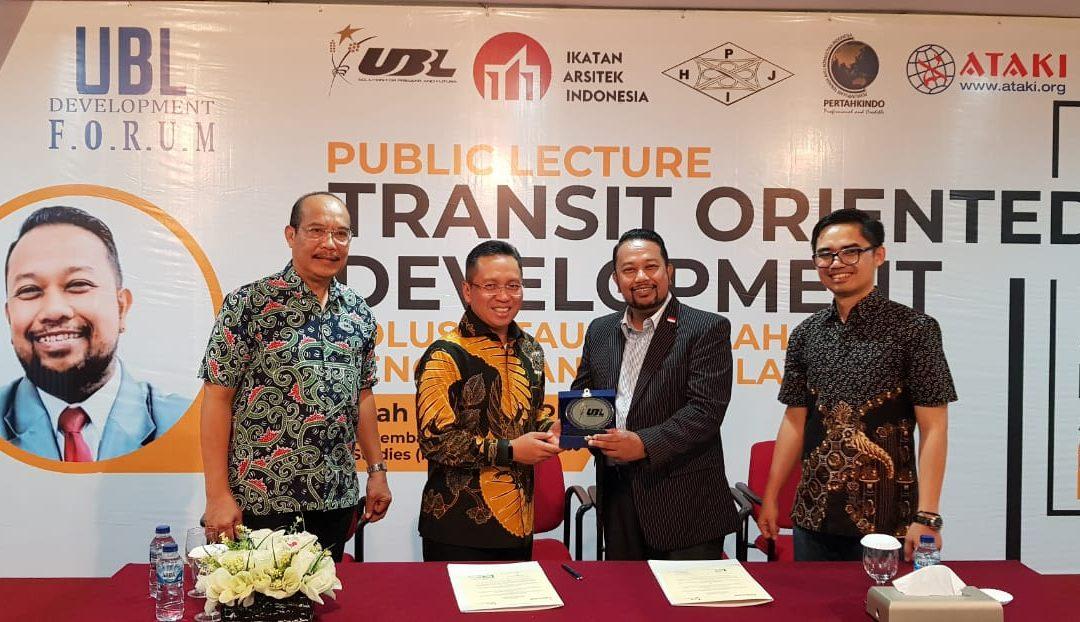 Tingkatkan Peran Bidang Pembangunan, UBL Kerjasama Dengan UPJ